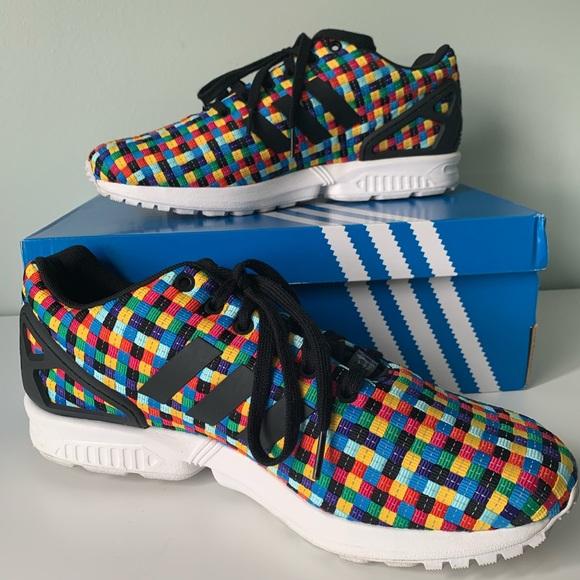 buy online 8a458 5859c Adidas | ZX Flux Rainbow Woven